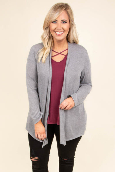 Windy Afternoon Cardigan, Heather Gray