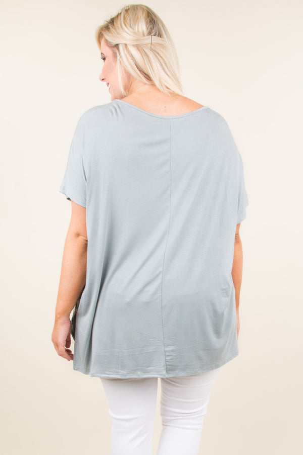 Call On It Tunic, Dusty Mint