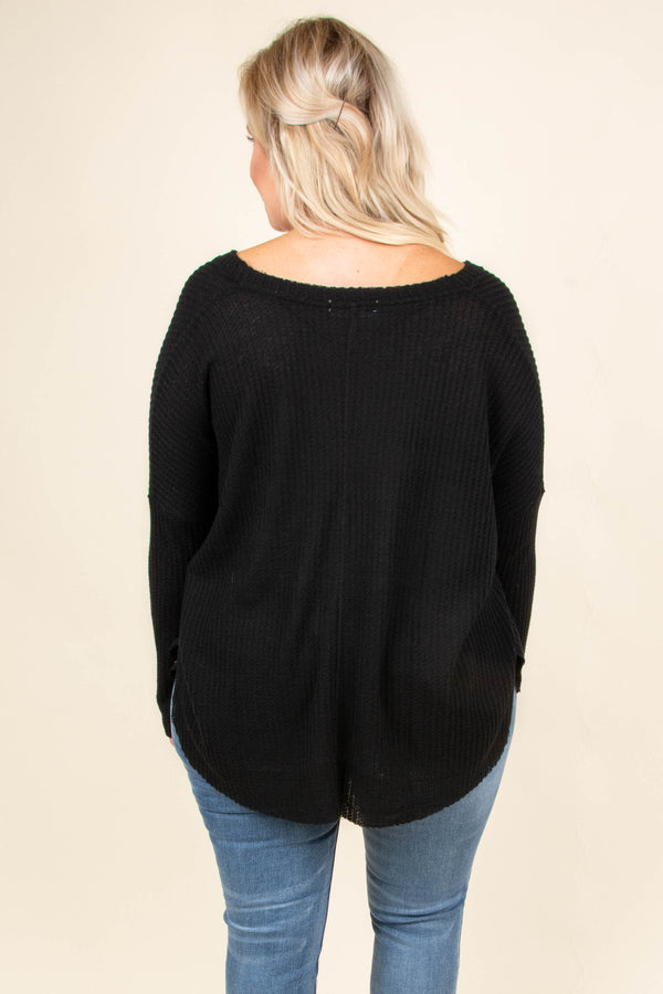 Takes Courage Top, Black