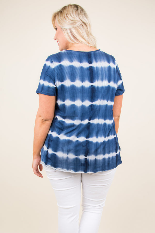 Simple Serenity Top, Navy