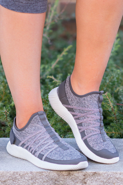 Actively Cute Sneakers, Gray
