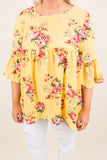 Dreaming Of The Day Tunic, Yellow