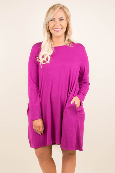 Simply Sassy Dress, Magenta