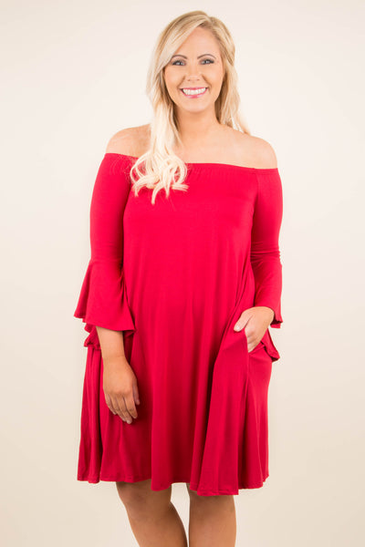 Basic Bliss Dress, Red