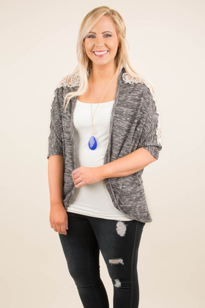 Don't Compromise Cardigan, Charcoal