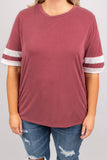 My Game Day Top, Burgundy