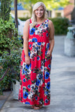 Catching Feels Maxi Dress, Red