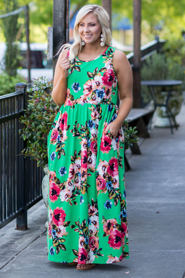 Catching Feels Maxi Dress, Kelly Green