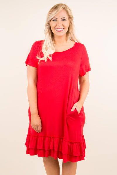 Get Rhythm Dress, Poppy Red