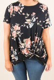 Finding Love Top, Black