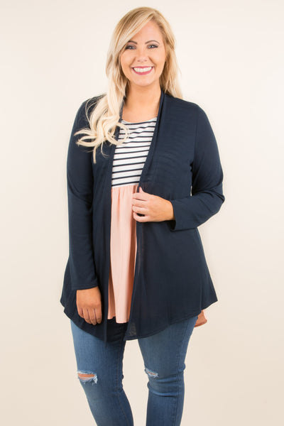 Windy Afternoon Cardigan, Navy