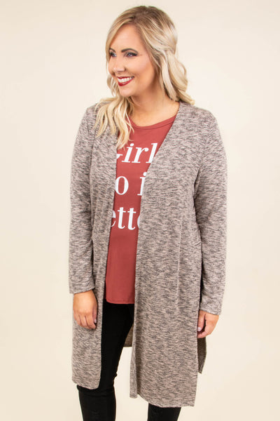 Cloudy Skies Cardigan, Mocha