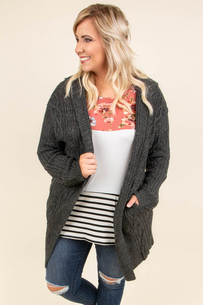 A Daydream Away Cardigan, Charcoal