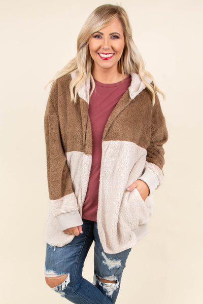Made For Warmth Jacket, Mocha-Taupe