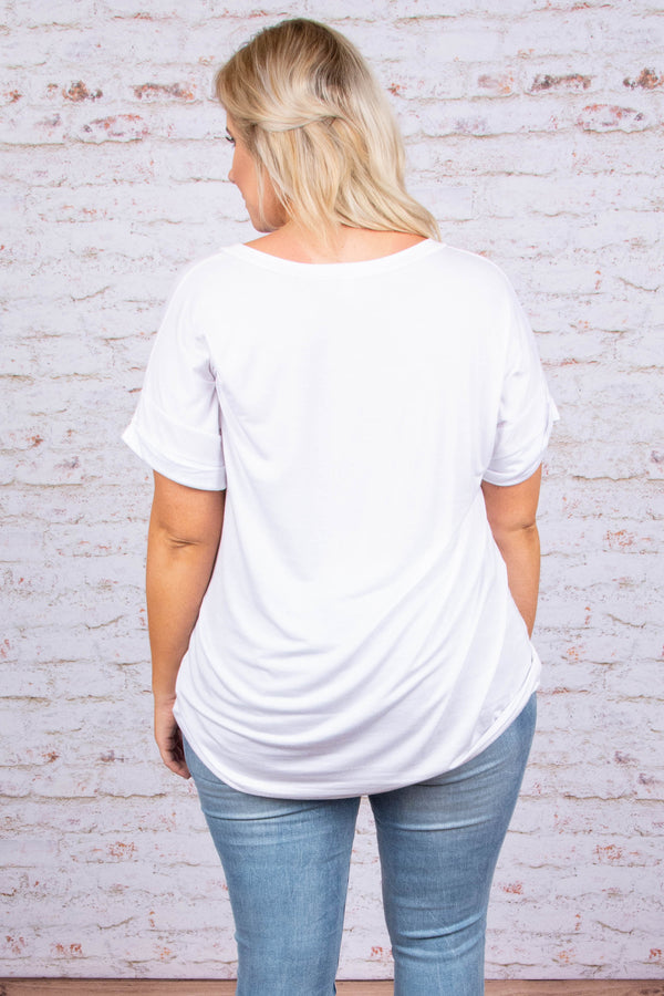 Ease Into The Day Top, White