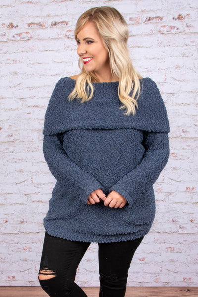 Weekend Travels Sweater, Dark Gray