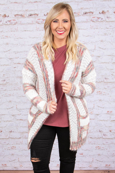 Warming Up To You Cardigan, Off-White