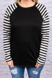 shirt, long sleeves, elbow patches, black, white stripes, striped sleeves, comfy, fall, winter