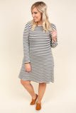 In Good Spirits Dress, Ivory-Black