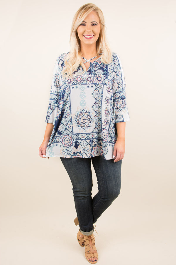 The Summer Blues Tunic, Blue