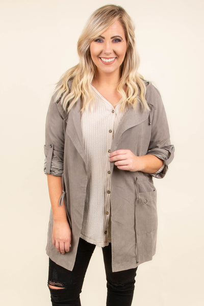 Warms My Heart Jacket, Earth Gray
