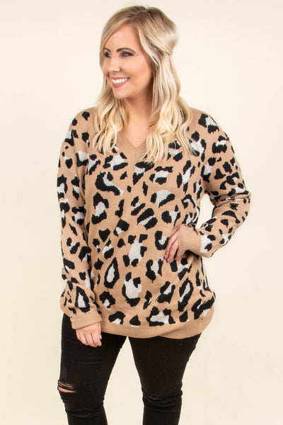Going Wild Sweater, Mocha