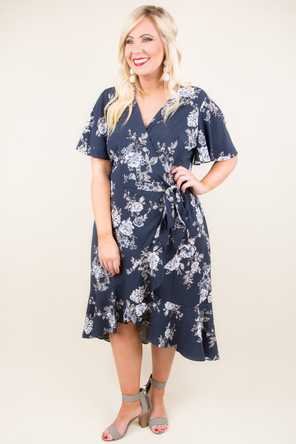 An Unforgettable Time Dress, Navy