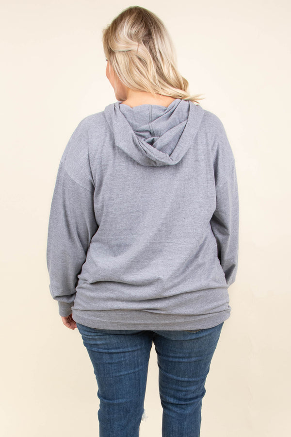 Fall Vibes Hoodie, Charcoal