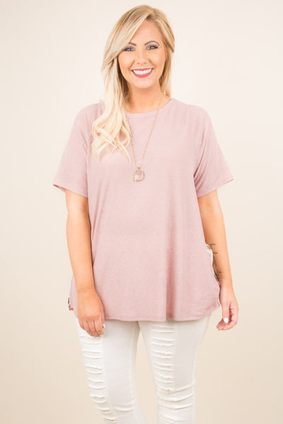 Lucky To Love Top, Mauve
