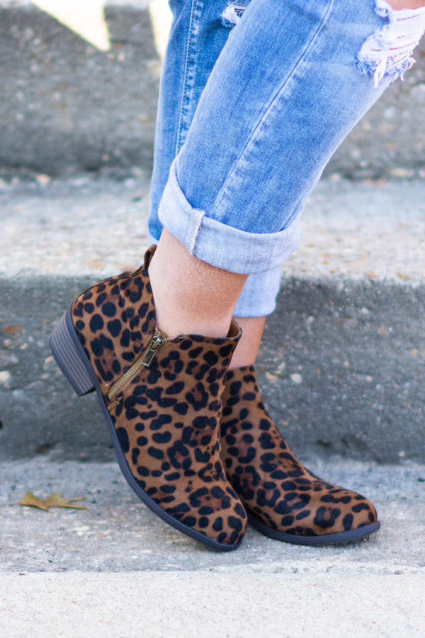 Drive Me Wild Booties, Brown