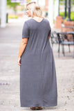 Makin' Waves Maxi Dress, Charcoal