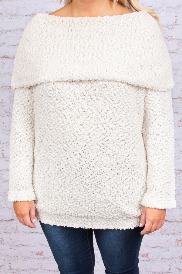 Weekend Travels Sweater, Cream