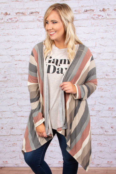 Feel The Chill Cardigan, Taupe