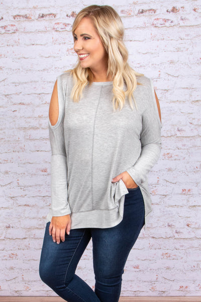 Complete Comfort Top, Heather Gray