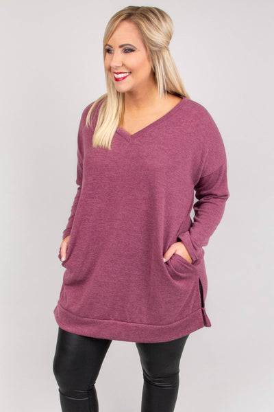 Long Flights Sweater, Mauve