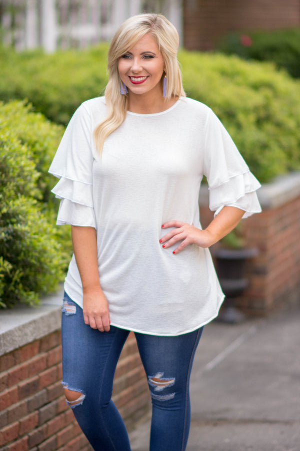 Beyond The Weekend Top, Ivory