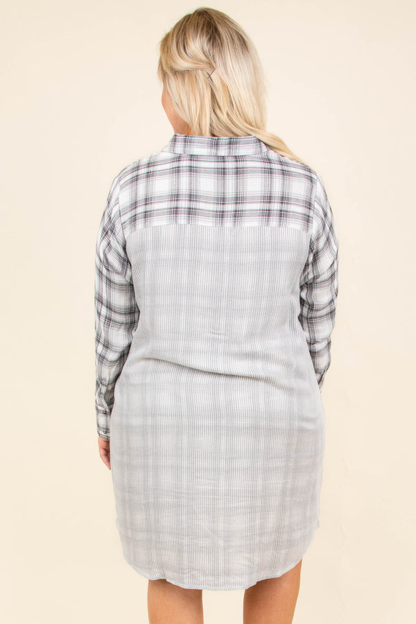 Meet Downtown Tunic, White-Black