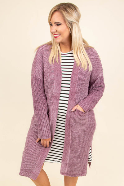 cardigan, long sleeve, long, pockets, knitted, purple, comfy, outerwear, fall, winter