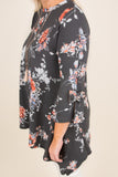 Blooming Breezes Tunic, Black
