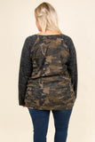 shirt, long sleeves, gray sleeves, camo torso, long, comfy, fall, winter
