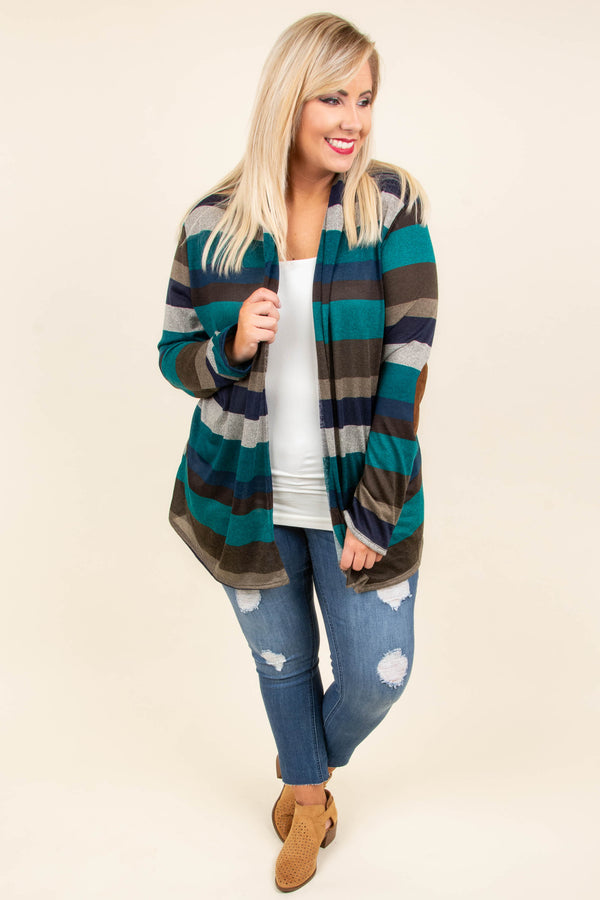 Here Comes The Fun Cardigan, Teal