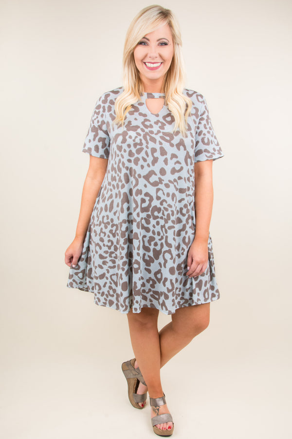 Been Spotted Dress, Blue