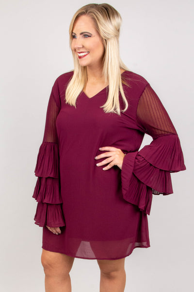 Spotlight On You Dress, Plum
