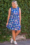 Dancing Spirit Dress, Navy Blue