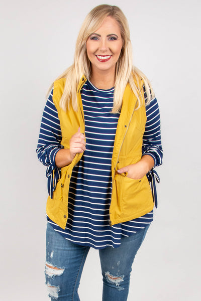 Chilly Temps Vest, Mustard