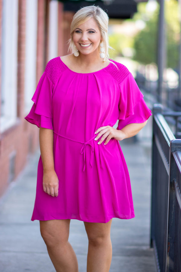 Dance All Day Dress, Magenta