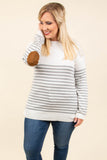 As You Wish Top, Ivory-Heather Gray