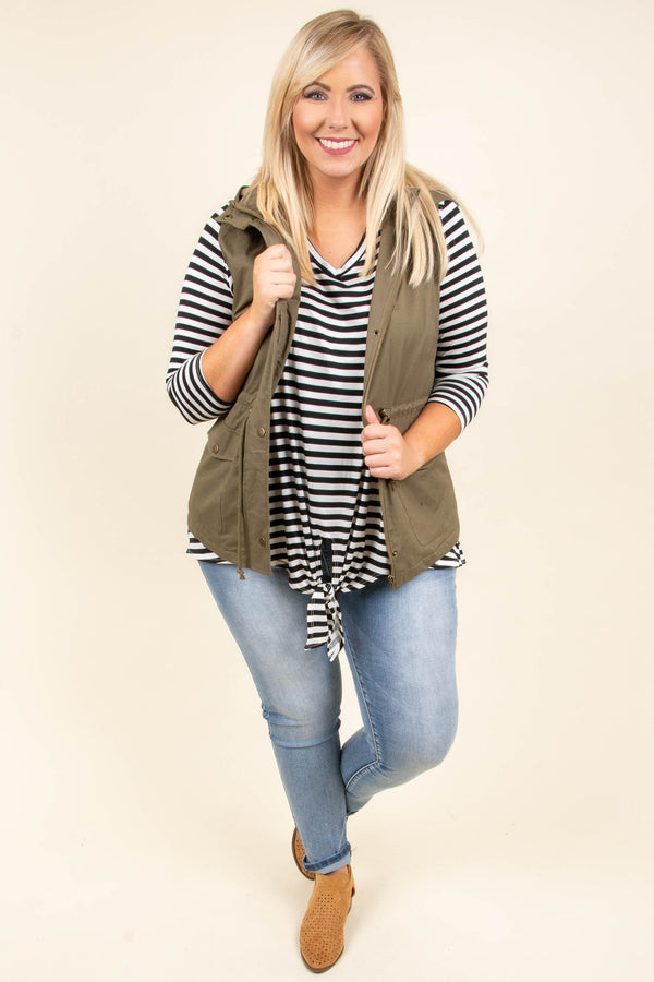 Chilly Temps Vest, Olive