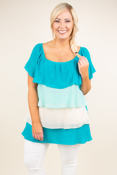 Lost In The Ruffle Top, Jade