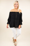 Can't Look Away Blouse, Black